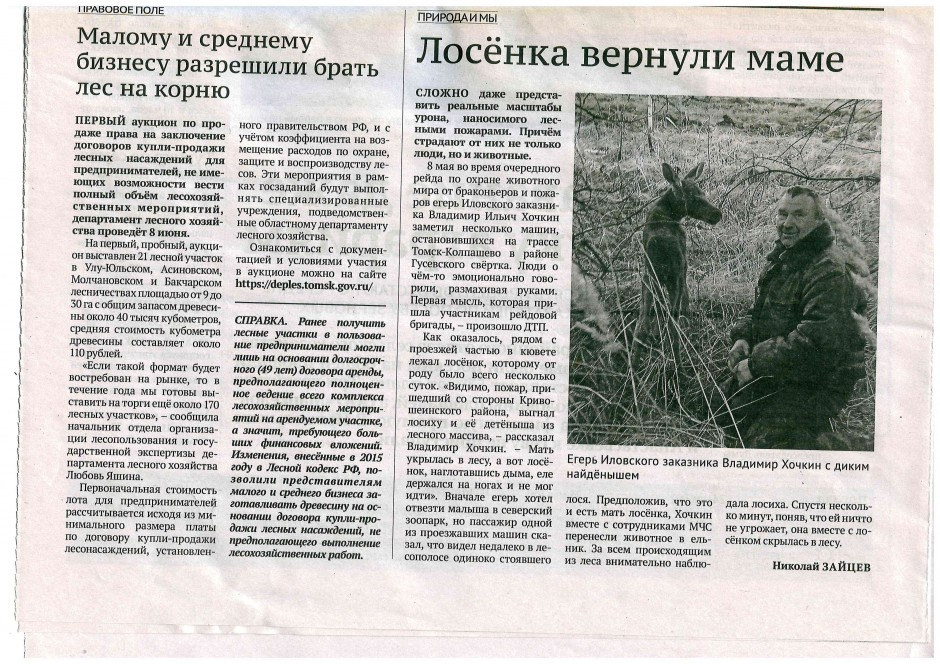 газета Хочкин